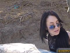 Russian slut Sandra Luberc caught at the border and fucked