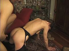 Granny taking a pounding by a younger stud