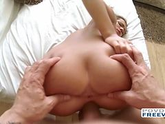 Stella Anne pussy plays and hardcore sex filmed in POV style with 3D sound