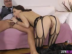 British babe ass fucked and sucking cock