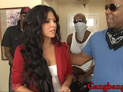 Seductive babe Danica Dillon double penetration and gangbang