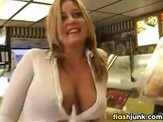 Subway restuarant boobs