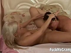 Long Blonde Teen Nailed By Fat Old Man