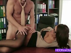 Hot Brunette Alexis Brill fucked hard on the desk by his boss