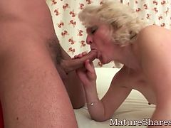 Chubby Granny Dicked By Two Students