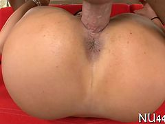 Pleasant holes group-fucked hard