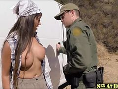 Mercedes and her friends gets caught by the border patrol